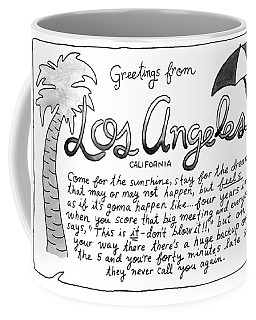 Greetings From Los Angeles Coffee Mug