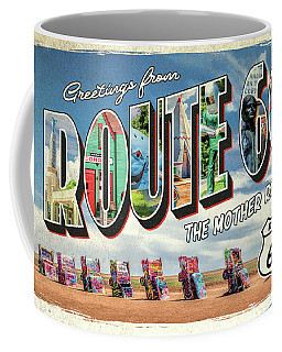 Coffee Mug featuring the painting Greetings From Route 66 by Christopher Arndt