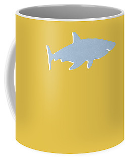 Grey And Yellow Shark Coffee Mug