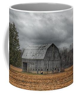 0024 - Grey Barn And Tree Coffee Mug
