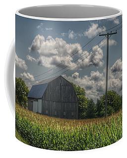 0013 - Grey Barn In A Cornfield Coffee Mug