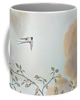 Grey Cloudy Flight By Dove Coffee Mug