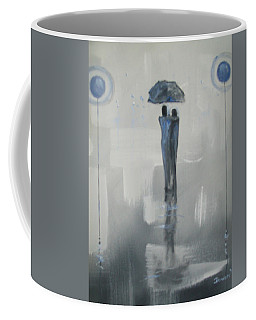 Grey Day Romance Coffee Mug by Raymond Doward