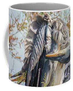 Grey Heron, Parc De Camargue, France Coffee Mug