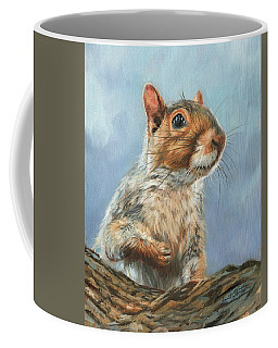 Coffee Mug featuring the painting Grey Squirrel by David Stribbling
