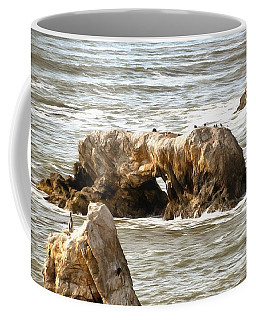 Coffee Mug featuring the photograph Grey Water At Window Rock by Barbara Snyder