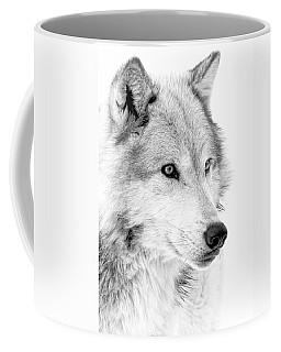 Grey Wolf Profile Coffee Mug