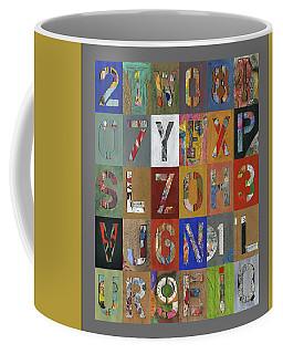Grid Letters Coffee Mug