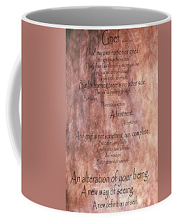 Coffee Mug featuring the mixed media Grief 1 by Angelina Vick