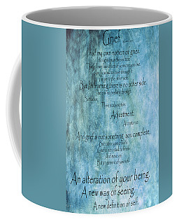 Coffee Mug featuring the mixed media Grief 2 by Angelina Vick