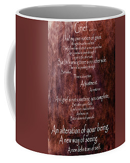 Coffee Mug featuring the mixed media Grief 3 by Angelina Vick