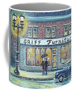 Coffee Mug featuring the painting Griff Furniture by Rita Brown