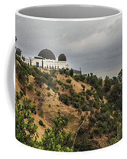 Coffee Mug featuring the photograph Griffith Park Observatory by Ed Clark