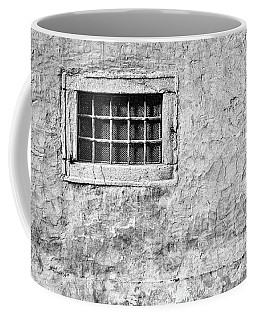 Coffee Mug featuring the photograph Grille In A Wall - Slovenia by Stuart Litoff