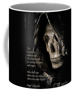 Grim Reaper And Edgar Allan Poe Coffee Mug