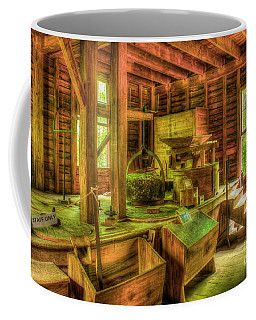 Coffee Mug featuring the photograph Grindingworks Mingus Mill Great Smoky Mountains Art by Reid Callaway
