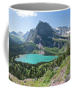 Grinnell Lake Panoramic - Glacier National Park Coffee Mug