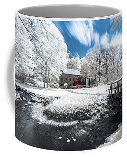 Coffee Mug featuring the photograph Grist Mill In Halespectrum by Brian Hale