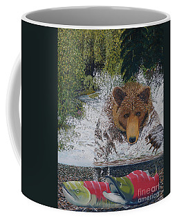 Grizzly Chase Coffee Mug by Stanza Widen