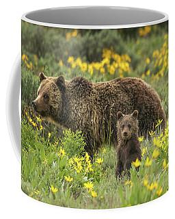 Grizzlies In The Wildflowers Coffee Mug