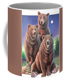 Grizzly Bears In Starry Night Coffee Mug