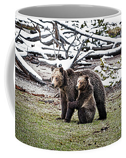 Grizzly Cub Holding Mother Coffee Mug