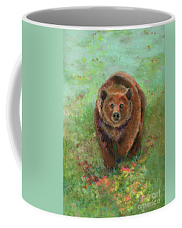 Grizzly In The Meadow Coffee Mug