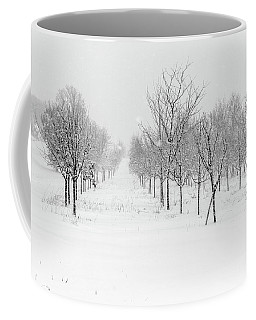 Grove Of Trees In A Snow Storm Coffee Mug