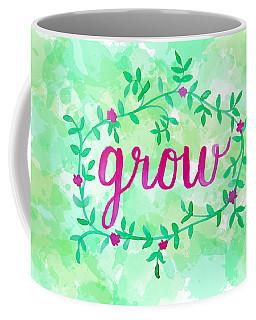 Grow Watercolor Coffee Mug