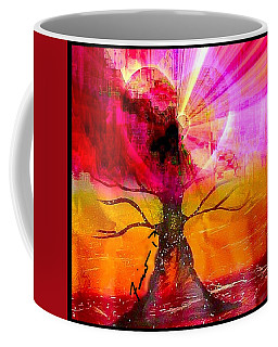 Coffee Mug featuring the mixed media Growing Love by Fania Simon