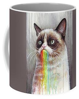Grumpy Cat Tastes The Rainbow Coffee Mug