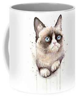 Grumpy Cat Watercolor Coffee Mug