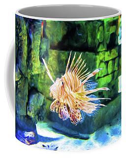 Grumpy Old Fish - Digital Art Coffee Mug by Kathleen K Parker