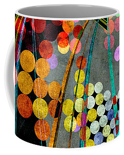 Coffee Mug featuring the digital art Grunge City Lights by Fran Riley