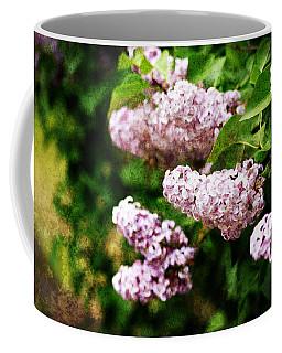 Grunge Lilacs Coffee Mug