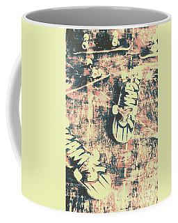 Grunge Skateboard Poster Art Coffee Mug