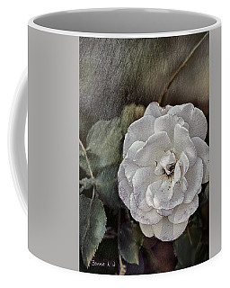 Coffee Mug featuring the digital art Grungy Floral by Bonnie Willis