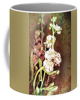 Coffee Mug featuring the digital art Grungy Floral Bouquet by Bonnie Willis