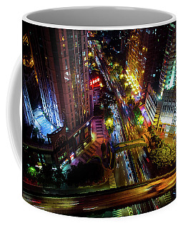 Guangzhou City Streets At Night Coffee Mug