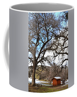 Coffee Mug featuring the photograph Guard Shack At Fort Tejon Lebec California by Floyd Snyder