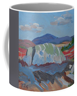 Coffee Mug featuring the painting Guardian Rock by Francine Frank