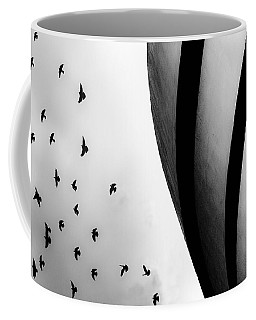 Coffee Mug featuring the photograph Guggenheim Museum With Pigeons by Dave Beckerman