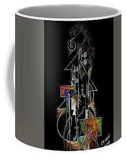 Guitar Abstract In Black Coffee Mug