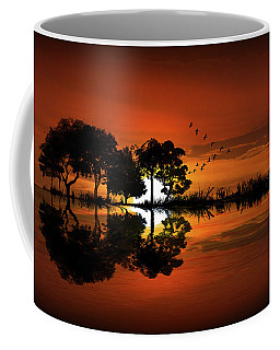 Guitar Landscape At Sunset Coffee Mug