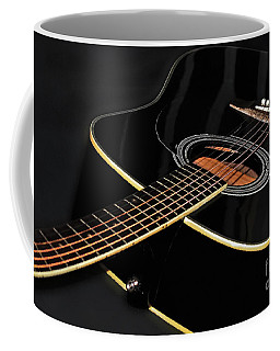 Coffee Mug featuring the photograph Guitar Low Key By Kaye Menner by Kaye Menner