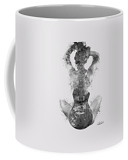 Guitar Siren In Black And White Coffee Mug