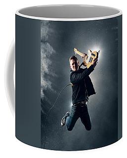Guitarist Jumping High Coffee Mug