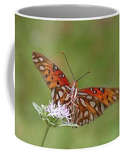 Gulf Fritillary On Elephantsfoot Coffee Mug