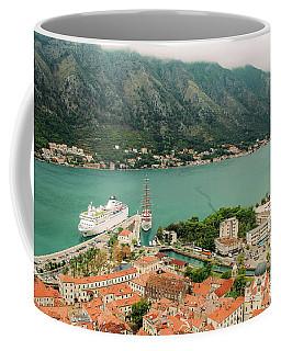 Gulf Of Kotor With Cruise Liner Coffee Mug