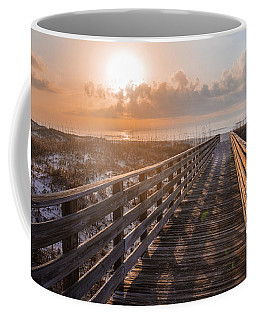Gulf Shore Sunrise And Boardwalk Coffee Mug